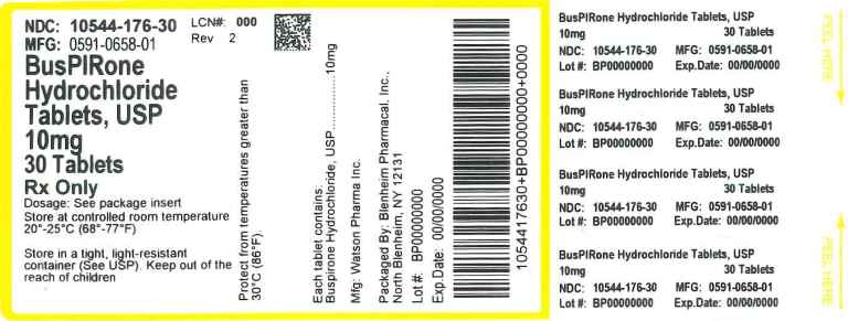 Buspirone HCl (Blenheim Pharmacal, Inc ): FDA Package Insert