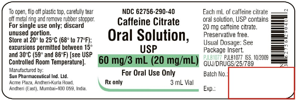 CAFFEINE CITRATE (Sun Pharmaceutical Industries Ltd): FDA