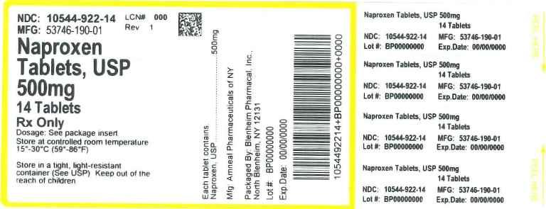 Naproxen 500 Mg Tablets Mfg Amneal