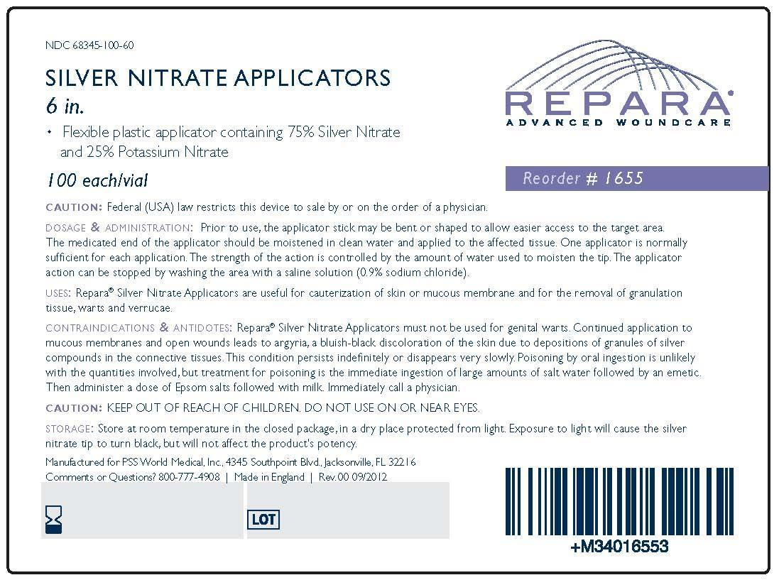 Repara Silver Nitrate Applicators Pss World Medical Inc